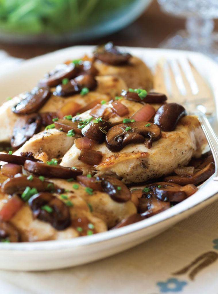 Recipe helps macular degeneration - Chicken with mushrooms and thyme