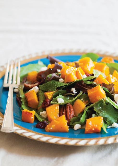 roasted butternut squash and cranberry salad photo