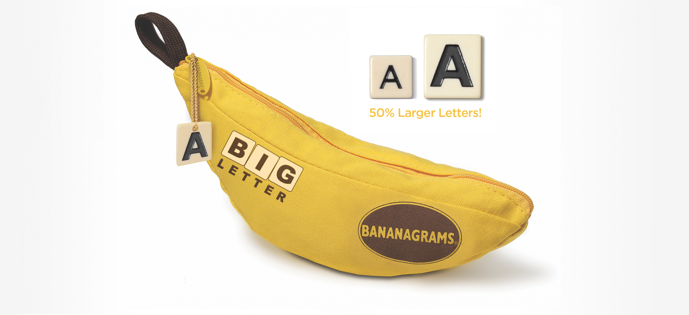 Big Letter Bananagrams Game for Low Vision